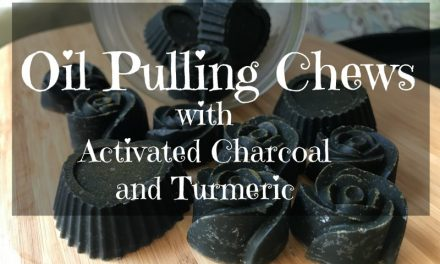 Oil Pulling with Charcoal and Turmeric